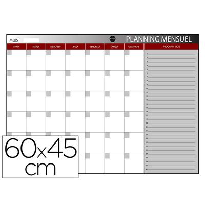 PLANNING MENSUEL MAGNÉTIQUE 60X45CM