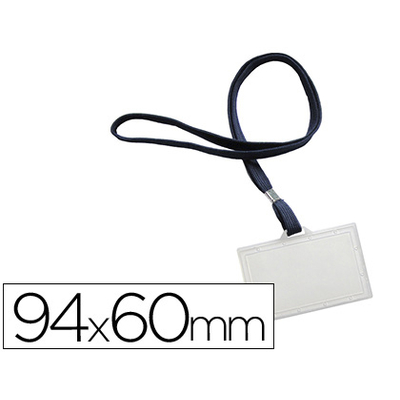 BADGE + LACET BLEU 60X94MM