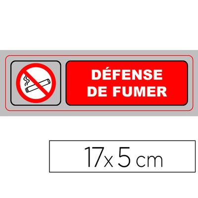 """PLAQUE """"DÉFENSE DE FUMER"""""""