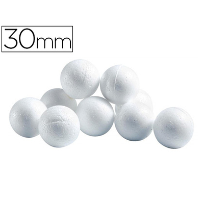 BOULES CELLULOSE BLANC ?30MM