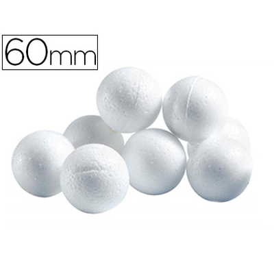 BOULES CELLULOSE BLANC ?60MM
