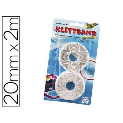 BANDES VELCRO BLANCHES
