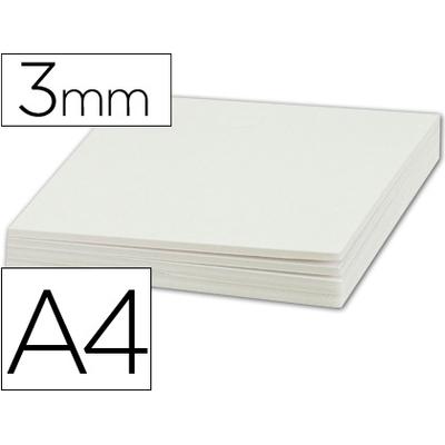 CARTON PLUME BLANC ÉPAISSEUR 3MM A4