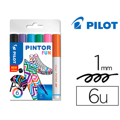 PINTOR POINTE FINE PACK DE 6 FUN MIX