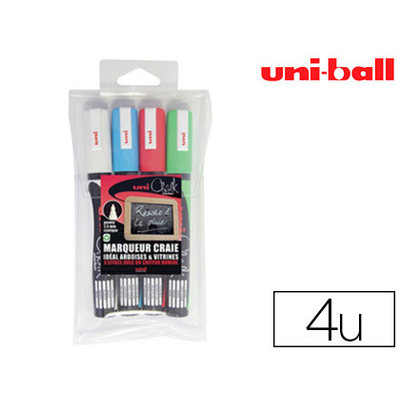 CHALK MARKER PACK DE 4