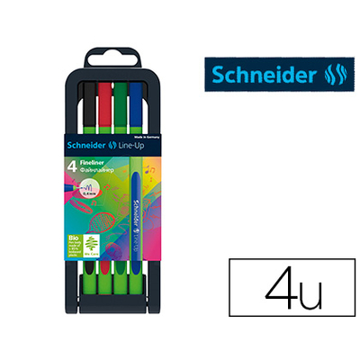 FINELINER LINE-UP BOX 4 COLORIS