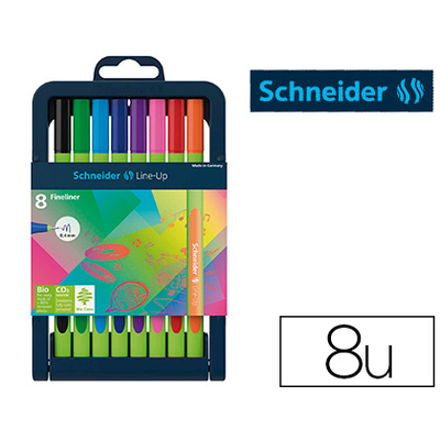 FINELINER LINE-UP BOX 8 COLORIS