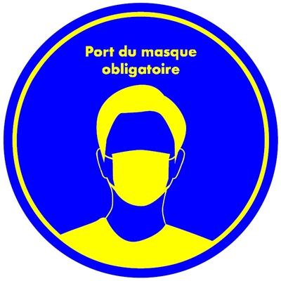 SIGNALÉTIQUE COVID19 PORT DU MASQUE OBLIGATOIRE