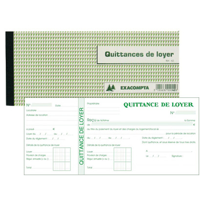 QUITTANCES DE LOYER 105X165MM