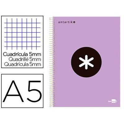 ANTARTIK 14.8X21CM 240 PAGES PETITS CARREAUX LAVANDE