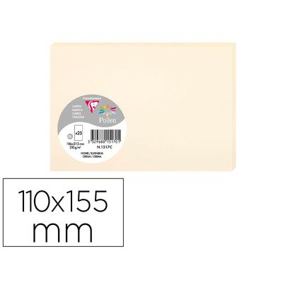 CARTES PRESTIGE POLLEN 110X155MM IVOIRE
