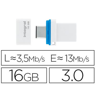 CLÉ USB FUSION DUAL 3.0 16GB