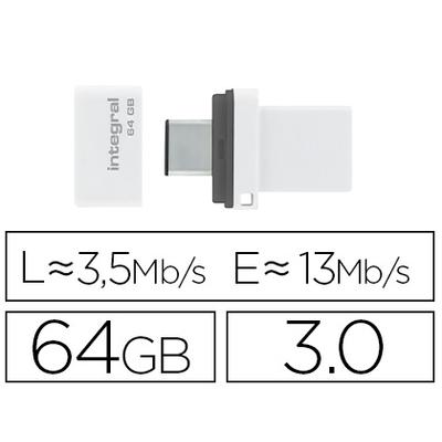 CLÉ USB FUSION DUAL 3.0 64GB