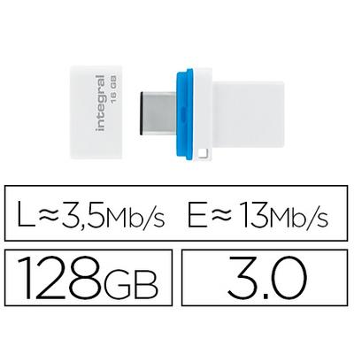 CLÉ USB FUSION DUAL 3.0 128GB