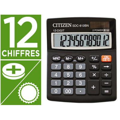 CALCULATRICE SDC-812BN 12 CHIFFRES NOIR