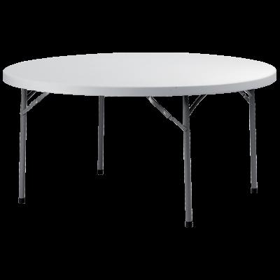 TABLE RONDE GRIS CLAIR ⌀152CM
