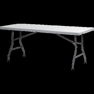 TABLE RECTANGULAIRE GRIS CLAIR 183X75CM