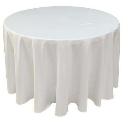 NAPPE BLANCHE POUR TABLE RONDE ⌀152CM