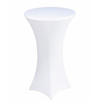 NAPPE BLANCHE POUR TABLE COCKTAIL