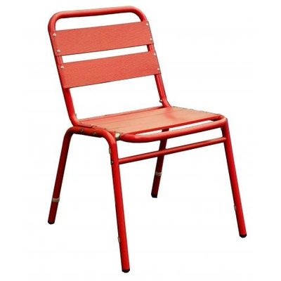 LOT DE 2 CHAISES ALUMINIUM ROUGE