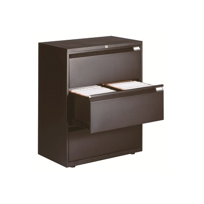 Crédence Noire 3 tiroirs