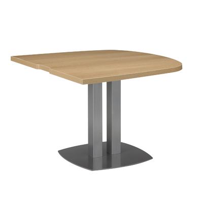 SLIVER CHÊNE TABLE ½ OVALE
