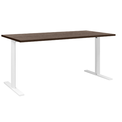 YES/XERUS CHÊNE ROYAL TABLE DE RÉUNION PIEDS BLANCS 160CM