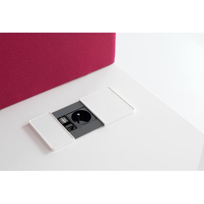 OPTION BOITIER 1 PRISE SECTEUR USB RJ45