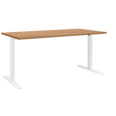 YES/XERUS MERISIER TABLE DE RÉUNION PIEDS BLANCS 140CM