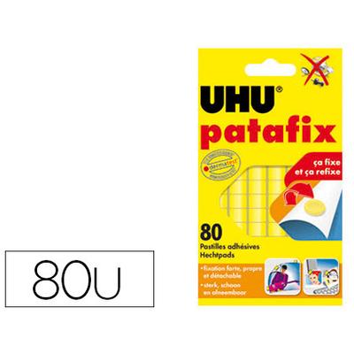 UHU PATAFIX BOITE DE 80 PASTILLES JAUNES