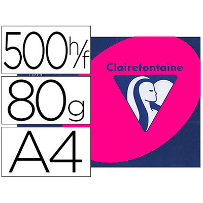 CLAIREFONTAINE TROPHÉE ROSE FUCHSIA A4 80G