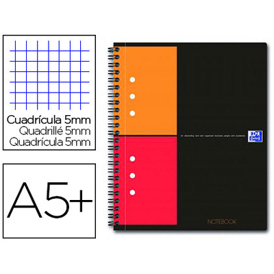NOTEBOOK A5+ 160 PAGES PETITS CARREAUX