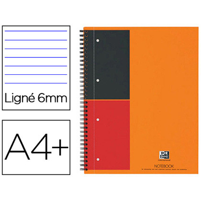NOTEBOOK A4+ 160 PAGES LIGNÉES