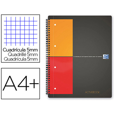ACTIVEBOOK A4+ 160 PAGES PETITS CARREAUX