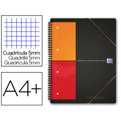MEETINGBOOK A4+ 160 PAGES PETITS CARREAUX