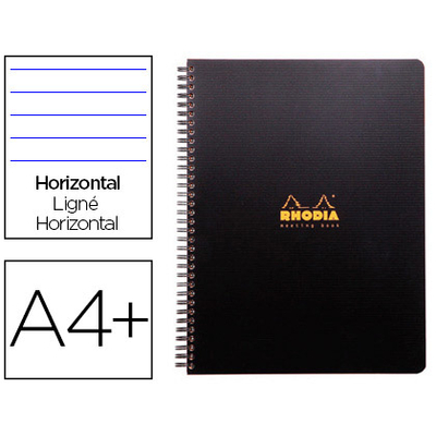 RHODIACTIVE NOTEBOOK A4+ LIGNÉ 9 TROUS