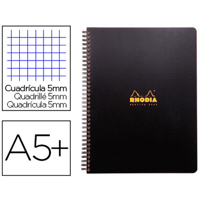 RHODIACTIVE NOTEBOOK A5+ 5x5 6 TROUS