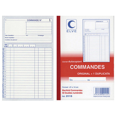 COMMANDES VERTICAL 1 A 50 21X14CM