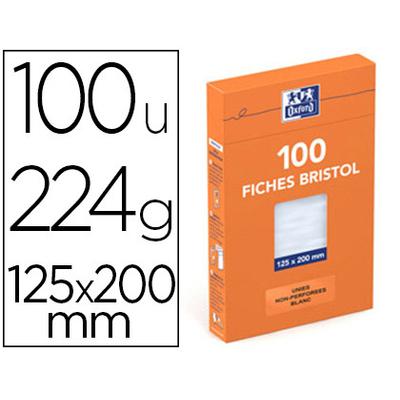 FICHES BRISTOL 125X200MM UNIES BLANCHES
