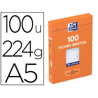 FICHES BRISTOL 148X210MM UNIES BLANCHES