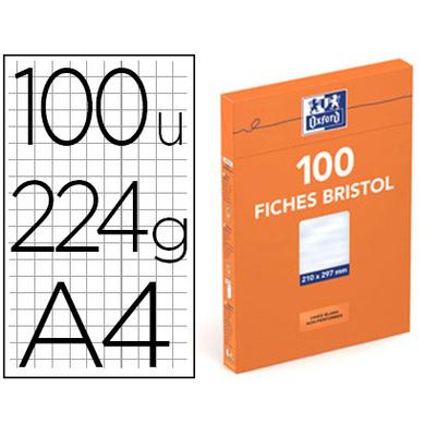 FICHES BRISTOL 210X297MM UNIES BLANCHES