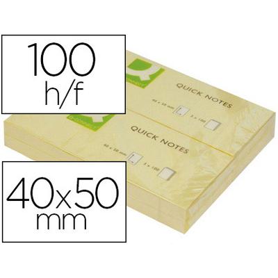 QUICK NOTES JAUNES 40x50mm x3