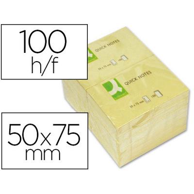 QUICK NOTES JAUNES 50x75mm