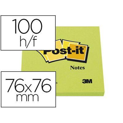 NÉON VERT FLUO BLOC 76x76mm