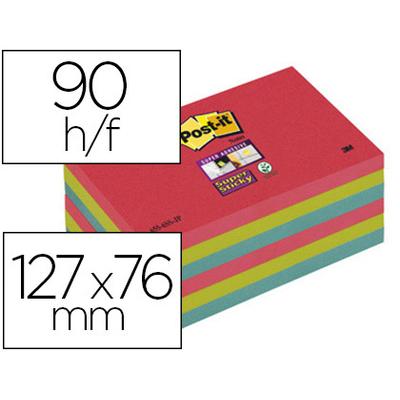 SUPER STICKY COQUELICOT VERT BLEU 76x127mm