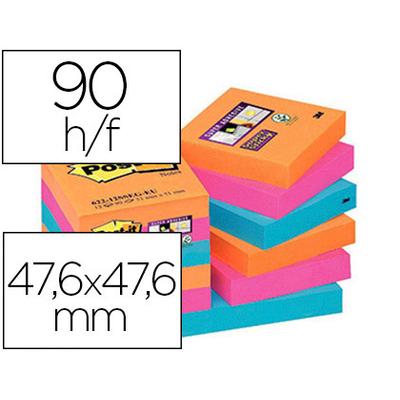 SUPER STICKY ORANGE ROSE BLEU 47.6x47.6mm