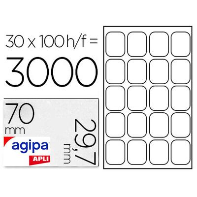 AGIPA ÉTIQUETTES  COINS DROITS 70x29,7mm