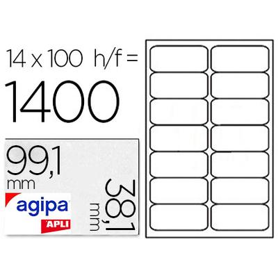 AGIPA ÉTIQUETTES COINS ARRONDIS 99,1x38,1mm