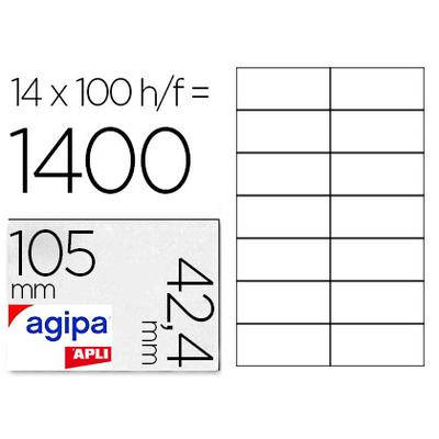 AGIPA ÉTIQUETTES  COINS DROITS 105x42,4mm