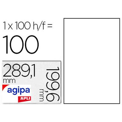 AGIPA ÉTIQUETTES COINS ARRONDIS 199,6x289,1mm